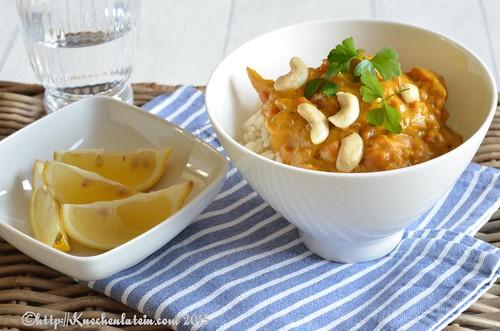 Cashew Hähnchen-Curry aus dem Slow Cooker