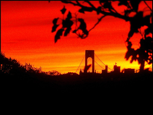 sunset newyork brooklyn image verrazanobridge dmitriyfomenko fall62013