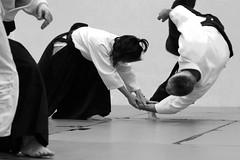 hapkido(0.0), judo(0.0), brazilian jiu-jitsu(0.0), aikido(1.0), contact sport(1.0), sports(1.0), martial arts(1.0), monochrome photography(1.0), japanese martial arts(1.0), jujutsu(1.0), monochrome(1.0), black-and-white(1.0),