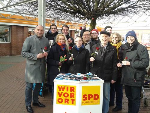 Wahlkampfendspurt in Marmstorf mit Senator Scheele