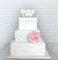 Flower and Frills Wedding Cake