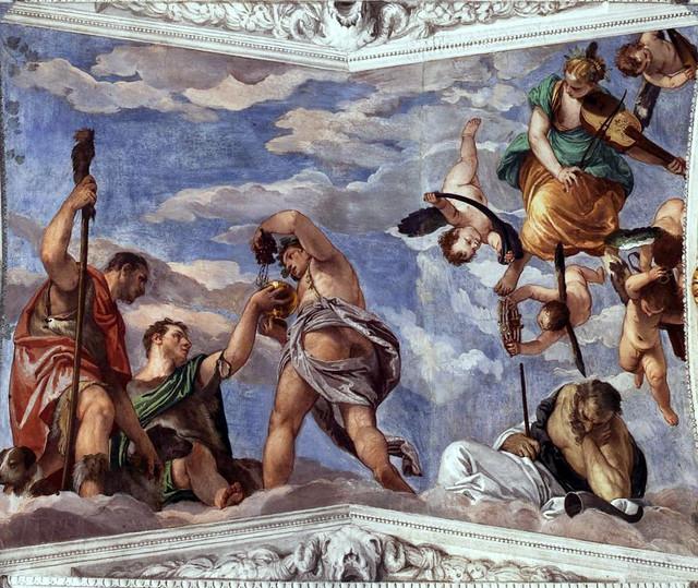 Paolo Veronese, Villa Barbaro, Maser, Bacchus, Vertumnus und Saturn