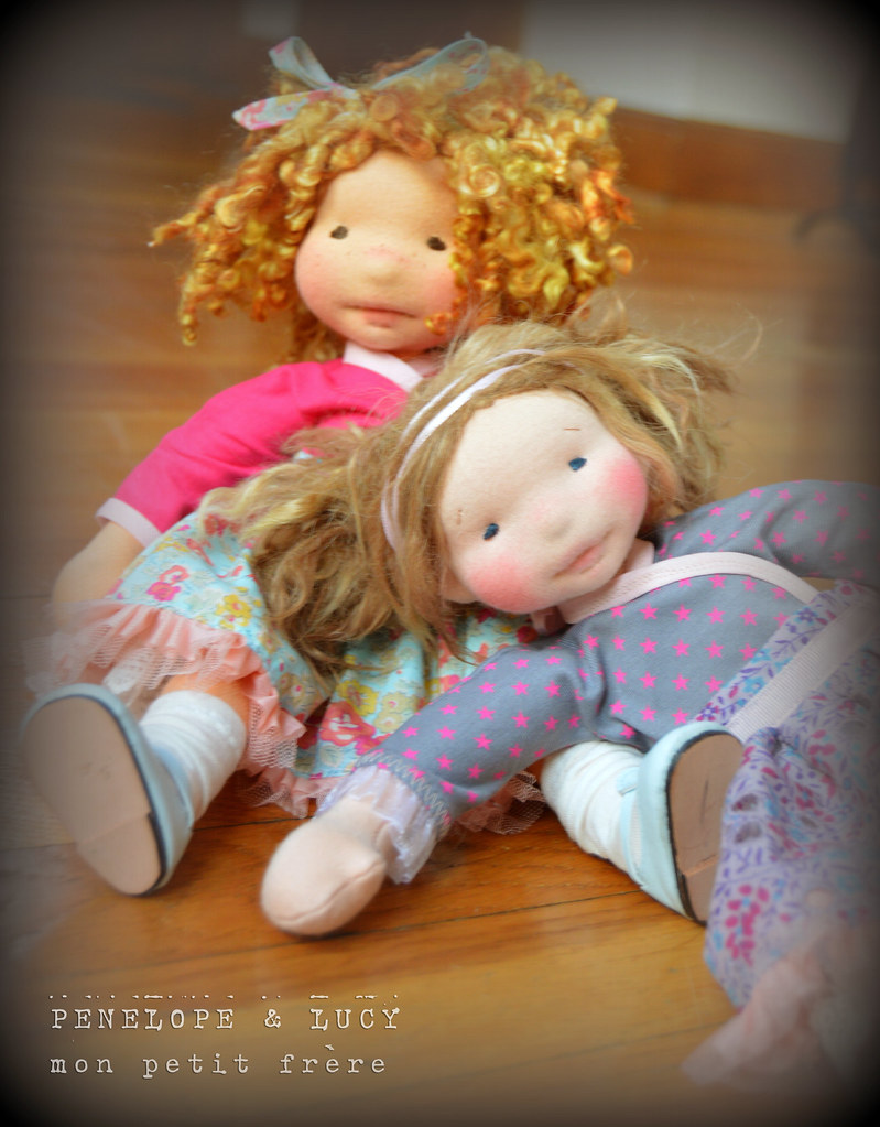 "Lucy-LISTING FOR NEWBIEs only! -12"" natural fiber art doll"