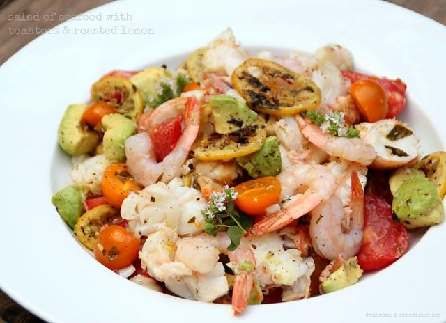 Salad of Seafood with Tomatoes & Roasted Lemon 1