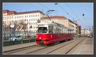 Image of Friedensbrücke. vienna wien österreich tram streetcar becs e1 tramway vienne wenen electrico tranvia sgp bim villamos трамвай tramvia wienerlinien duewag strasenbahn typmannheim