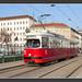 Tram Wien, Friedensbrücke, 17.Feb 2015