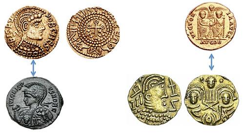 Post-Crondall thrymsas coins