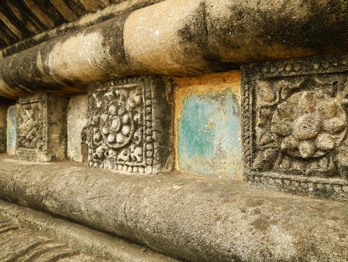 Stone & Tile Textures at Thatbyinnyu Phaya in Bagan, Myanmar