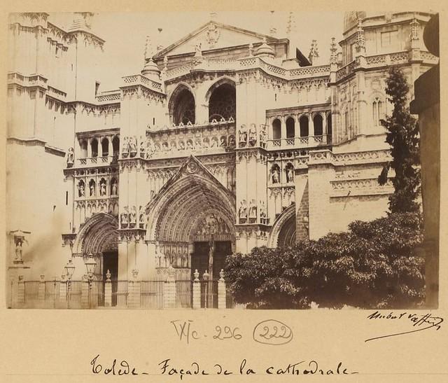 Catedral de Toledo en 1889. Fotografía de Marie Hubert Vaffier © Bibliothèque Nationale de France