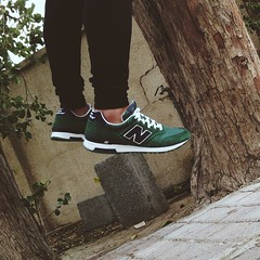 Me floating in the backyard. #newbalance #shoes #sneakers