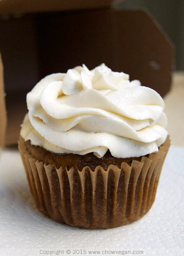 Vegan Pumpkin Spice Cupcake with Maple Frosting