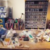New storage for my beads and pieces just arrived and I am trying to tidy up my little space of mine :) #mycreativespace #messydesk #artist #izabelamotyl #isamo