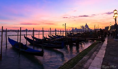 Sunset from Riva degli Schiavoni 1, Venezia, Veneto, Italia