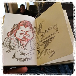 #urbansketch #train #portrait