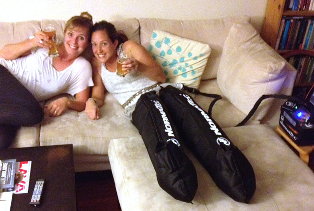 normatec boots, ironman training,