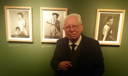 José Guitián na inauguración da súa exposición - homenaxe (27 marzo 2015)