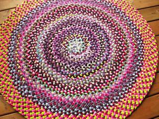 Custom Colorful Braided Round Rug