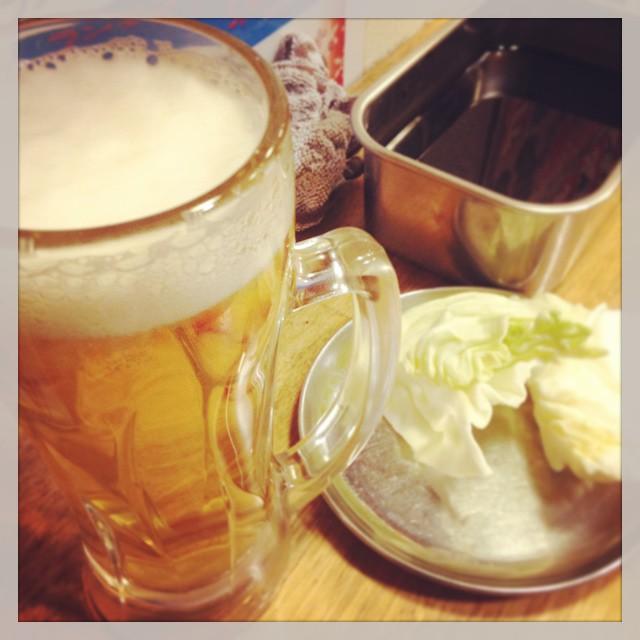 Photo:つるつる庵の前に、まずはおまかせ串カツ4本と生Bの500円セットから。しあわせ〜! By dubbed.pachi