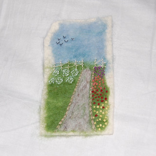 WIP: Needlefelting + embroidery + felt