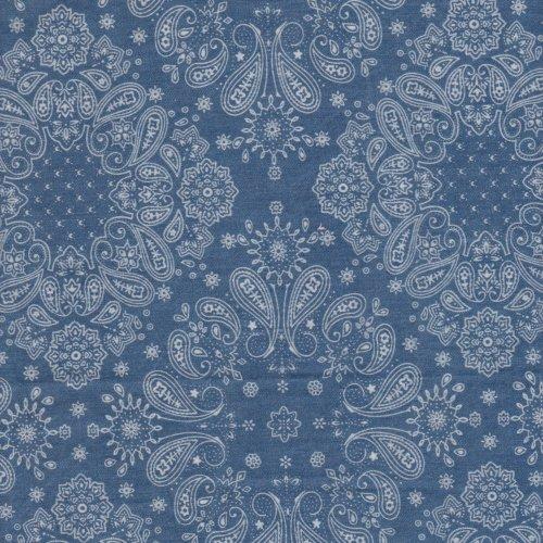 藍浮世繪 手工藝DIy拼布 牛仔服裝布料 CE890040