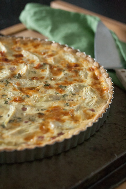 Ham and Artichoke Quiche