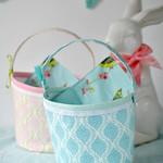Fabric basket sewing tutorial