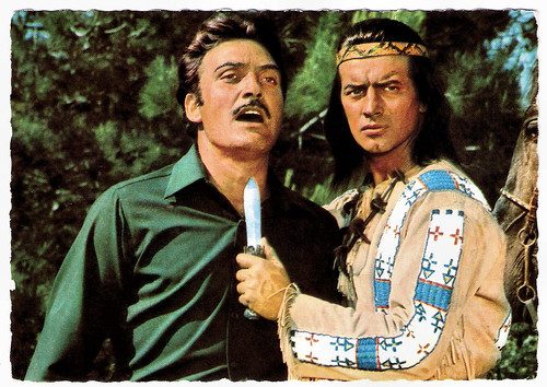 Rik Battaglia and Pierre Brice in Winnetou 3. Teil (1965)