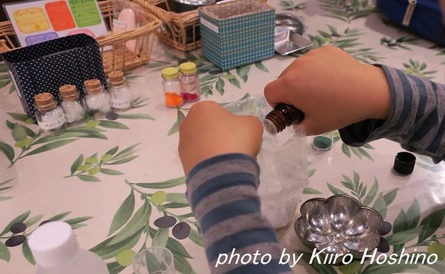 2016.4.30石鹸作り、オイル投入