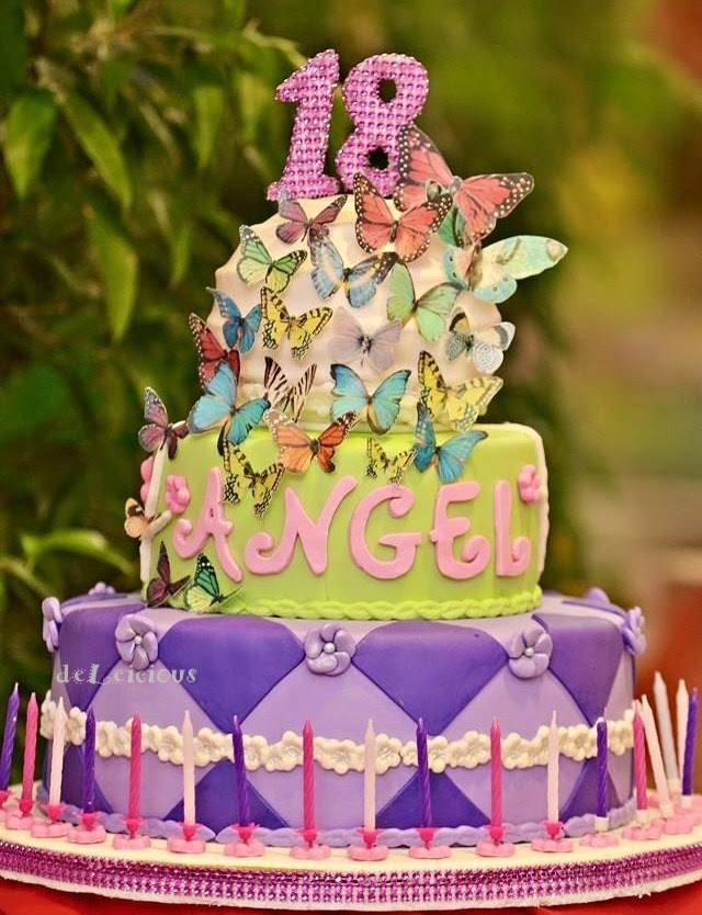 Cake with Butterflies by Leila Vida