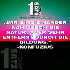 """""""WIR SIND EINANDER NAH DURCH DIE NATUR, ABER SEHR ENTFERNT DURCH DIE BILDUNG."""" -KONFUZIUS #WIR #SIND #EINANDER #NAH #DURCH #DIE #NATUR #ABER #SEHR #ENTFERNT #DURCH #DIE #BILDUNG #KONFUZIUS"""