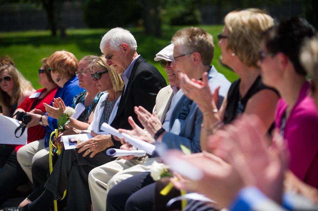 Re-Dedication ceremonies for Memorial to Fallen Educators - June 8, 2016