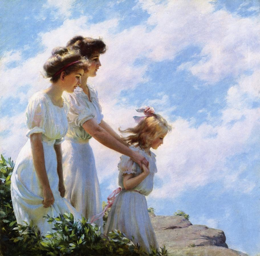 On the Cliff by Charles Courtney Curran - 1910