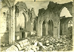 HS 2-28 (front) - Lassigny Cathedral interior, WWI