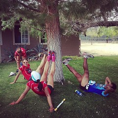 Team Ultra University takes a stretch break in Borrego Springs #bwss