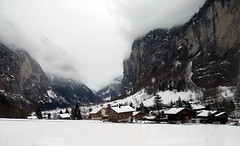 Lauterbrunnen valley from the train to Wengen