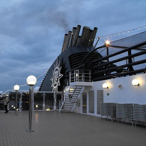 MSC Magnifica - departing Hamburg by chrisLgodden