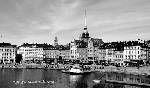Old Town in Black and White, Stockholm Sweden by sawelli