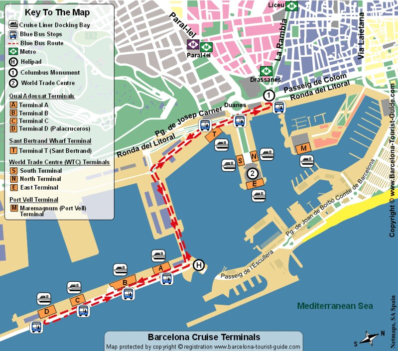 Mapa Porto Barcelona