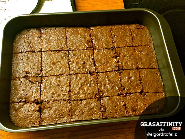 Receta de brownie de chocolate con nueces