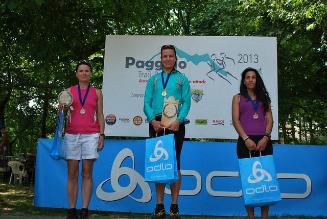 Οι νικήτριες του Paggaio Trail Run 2013  © Τάσος Κωνσταντινίδης