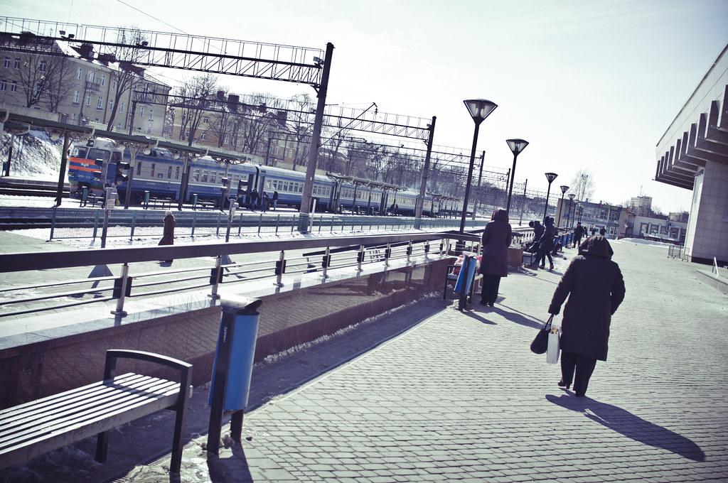 Dworzec kolejowy w Grodnie, autor: Marco Fieber, źródło: Flickr, licencja CC
