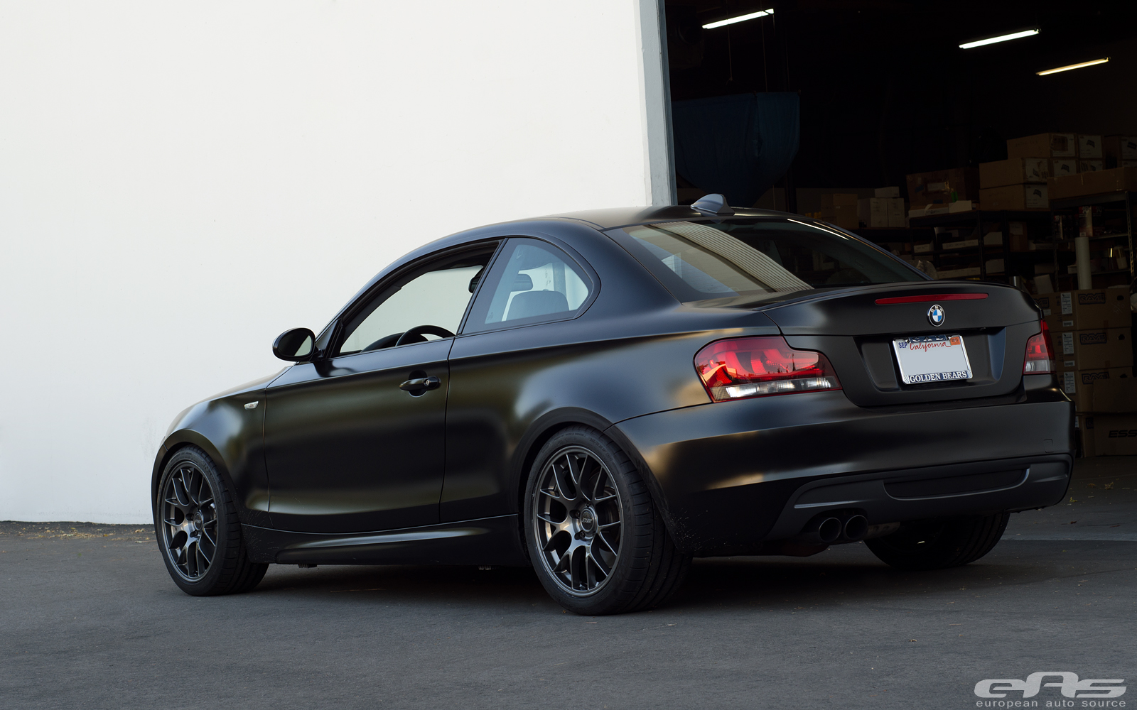 Frozen Black 135i On Apex Ec 7 Wheels Bmw Performance