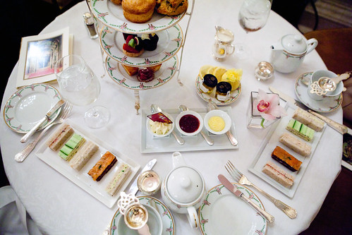 The afternoon tea spread