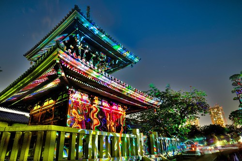 Night Lights at 護国寺 (Gokoku-ji Temple)