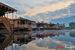 Dal lake boathouse