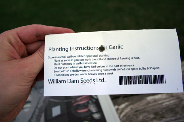 garlic instruction