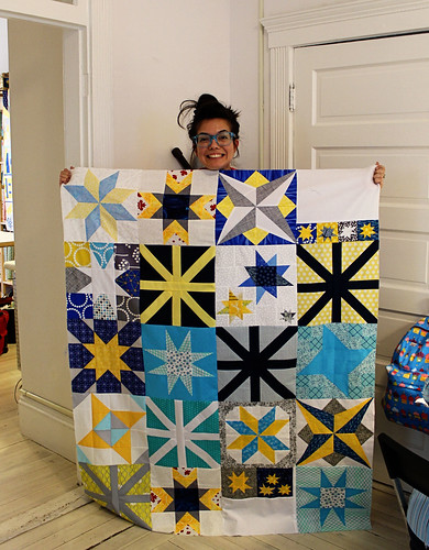 Virginia's star quilt top