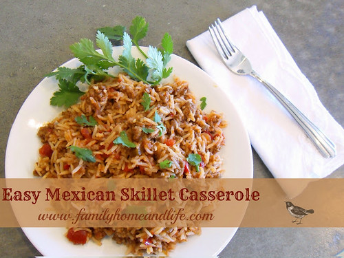 Easy Mexican Skillet Casserole from Family Home and Life.