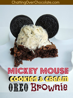 Mickey Mouse Cookies & Cream Oreo Brownie