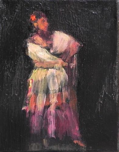 pintura sobre tela con acrilico